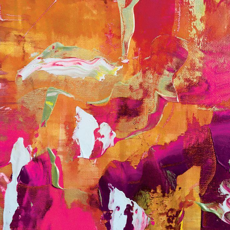 Firestorm | 20 x 20 Fine Art Print | Original art is abstract acrylic on canvas.