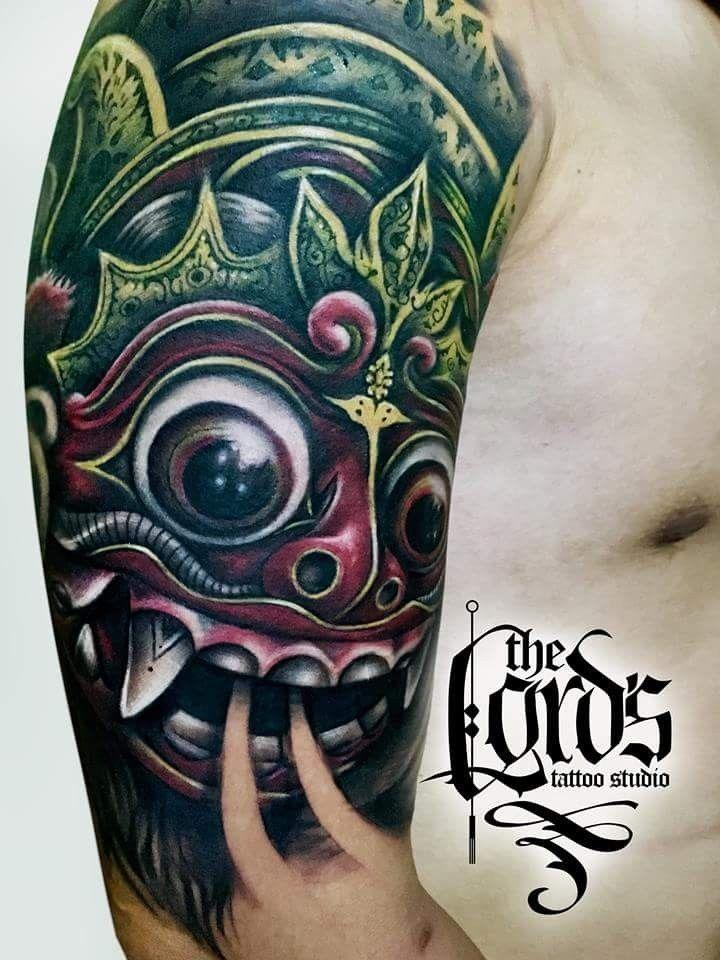 Balinise Barong Mask Done At The Lord S Tattoo Studio Seminyak Bali