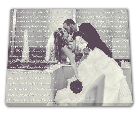 First Dance Lyrics/ Wedding Canvas Photo Decor by RockinCanvas