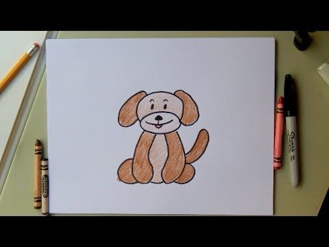 How to Draw a Dog-Drawing a Cartoon Dog - Fun for kids! or adults! - YouTube