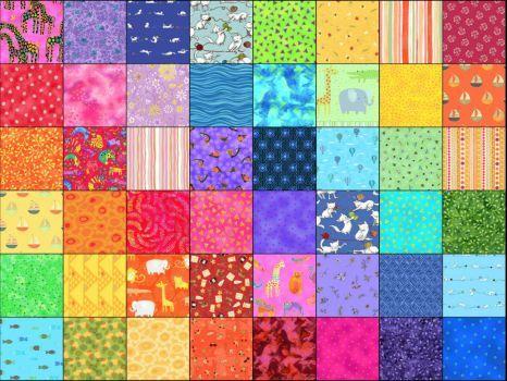 "6x8 (35 pieces) - ""quilt""  fabric puzzle"