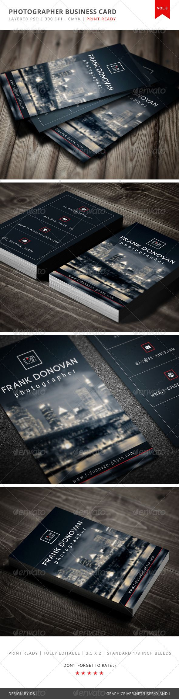 Photographer Business Card - Vol.8 - Creative Business Cards