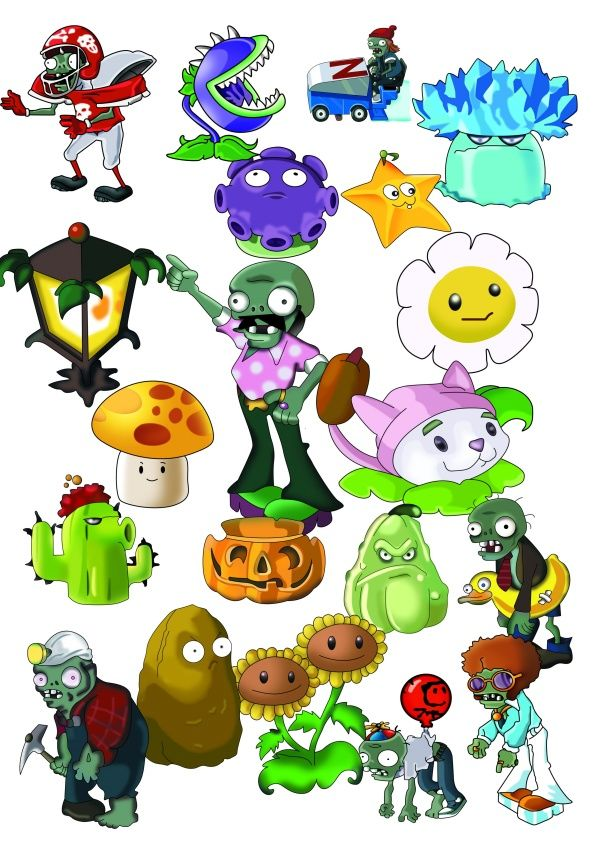 Plants Vs. Zombies Plush Characters | The Plants vs zombies game PSD images will download as a .psd file ...