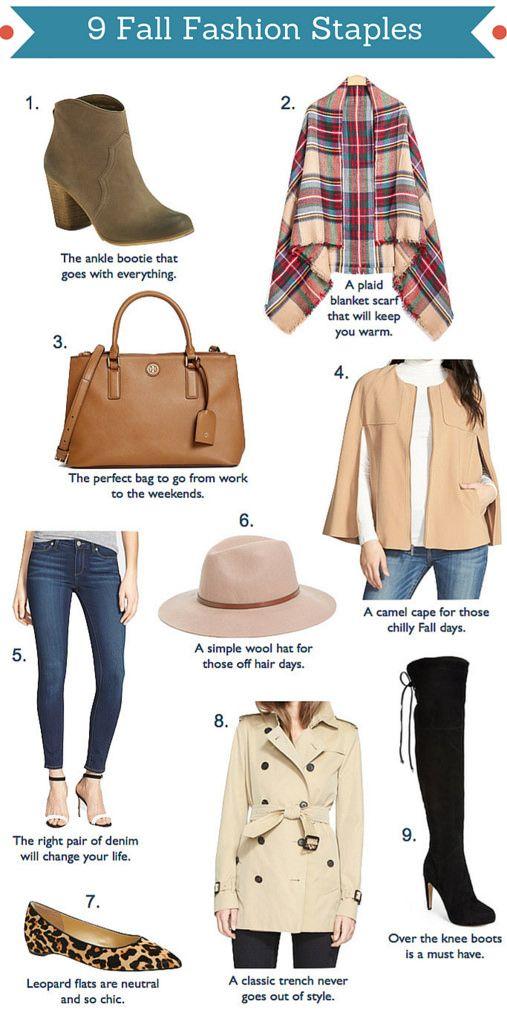 Stylish Petite   Fashion, Lifestyle, Travel and Home Decor Site: 9 Fall Fashion Staples (plus new YouTube video)