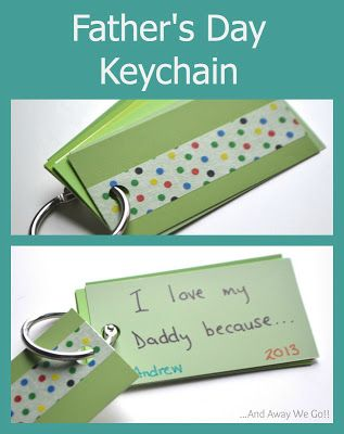 The kids will have so much fun making this easy Father's Day keychain craft! Dad will love it and they will too! Very easy DIY Gift Idea!