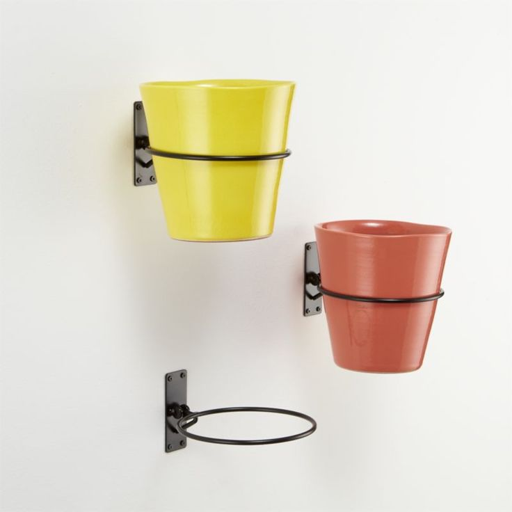 4.95 Wall Planter Hook | Crate and Barrel for pens pencil crayons - 14 Best Wall Planters Images On Pinterest