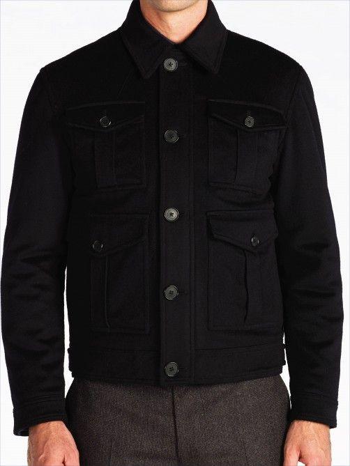 Navy Wool Bomber Jacket - Outerwear - Weekendwear - Gieves & Hawkes