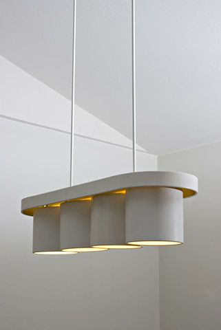 Alvar Aalto; Enameled Brass and Aluminum Ceiling Light by Valaistustyö Ky for Säynätsalo Town Hall, 1952.