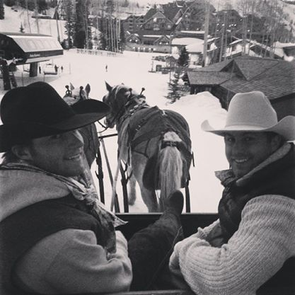 Then there was the time handsome cowboys did snow donuts in a sleigh.