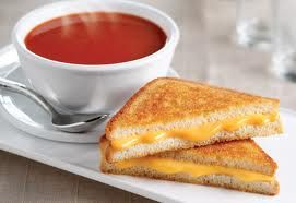 My favorite comfort food. Grilled Cheese Sandwich and Tomato Soup
