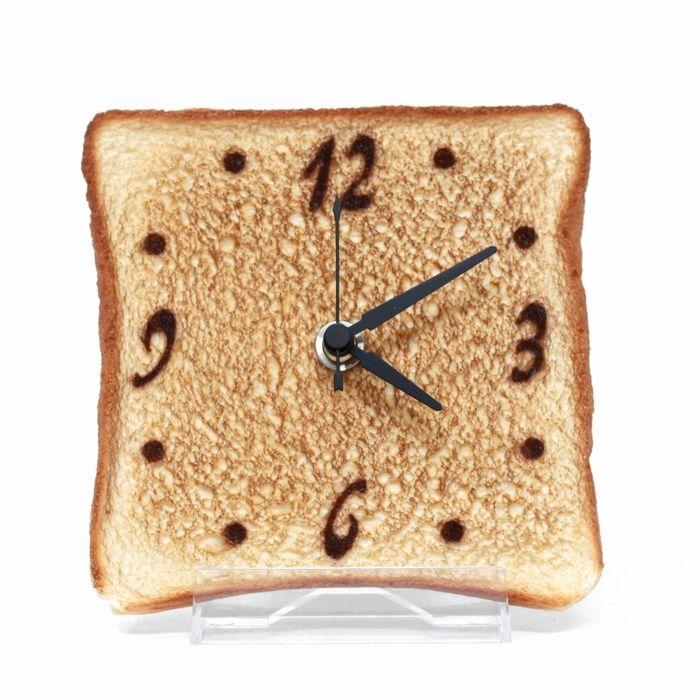 薄切トースト時計/置時計/ほんのりアートな食品サンプル時計/誕生日プレゼント 女性 友達 プレゼント 新築祝い 開店祝い インテリア 雑貨 の画像2