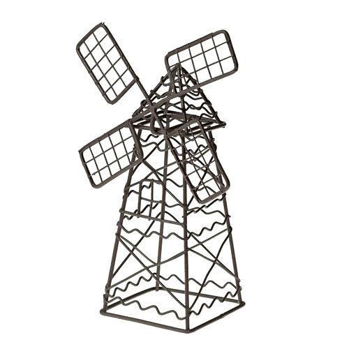 Кукольная садовая миниатюра 'Декоративная ветряная мельница', коричневая, металлическая, ScrapBerry's [SCB27050] Кукольная садовая миниатюра 'Декоративная ветряная мельница', коричневая, металлическая, ScrapBerry's [SCB27050]
