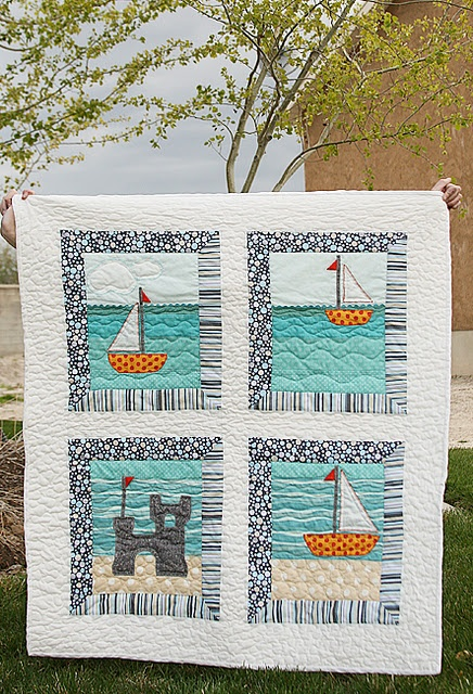 .: Easy Sailing, At The Beaches, Quilts Patterns, Nautical Patterns, Sailboats Quilts, Baby Quilts, Cute Ideas, Quilts Design, Quilts Ideas