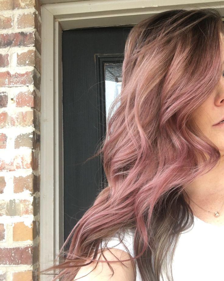Dusty Rose Hair #haircolor #pinkhair