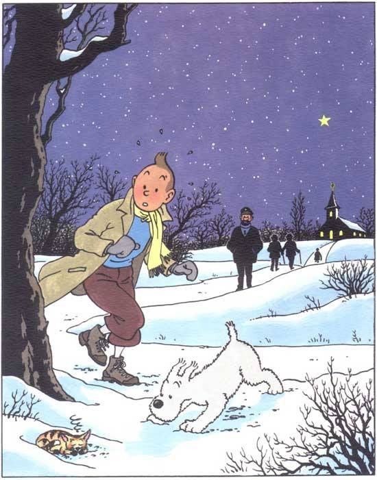 tintin by Rodier // aaw! a little kitten in the snow