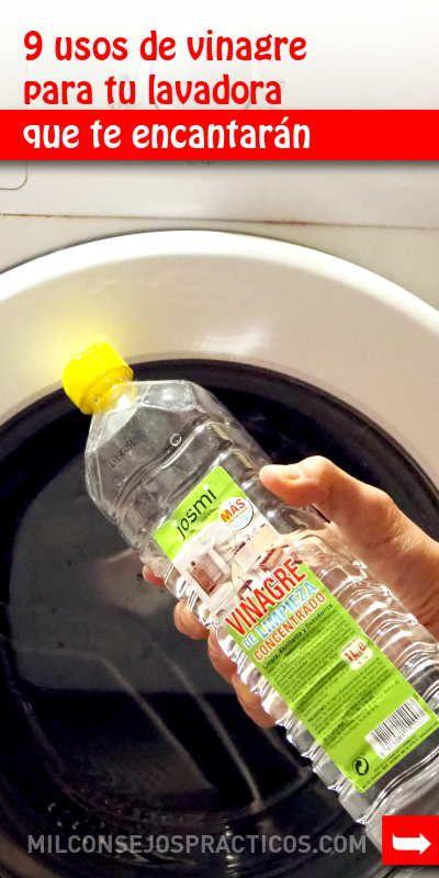 9 Usos De Vinagre Para Tu Lavadora Que Te Encantarán Limpieza Del
