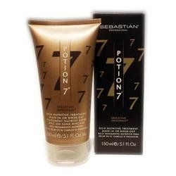 """Professional Potion # 7 Rich Nutritive Treatment L Sebastian 5.1 oz Treatment For Unisex by Professional Potion # 7 Rich Nutritive Treatment L. Save 64 Off!. $7.51. """"The Seven Wonders of Beautiful Hair"""". Unlike any other treatment, Potion 7 is applied directly to dry hair, and can be worn at home, at work or at the salon for five minutes or five hours. Potion 7 combines 7 nutrients: Vitamins A, E and F, amino acids, grapefruit, mandarin orange and cactus extracts, glucose, proteins, lipids…"""