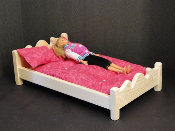Large/Double Bed with Mattress & Pillows by ToysByJohn on Etsy, $20.90