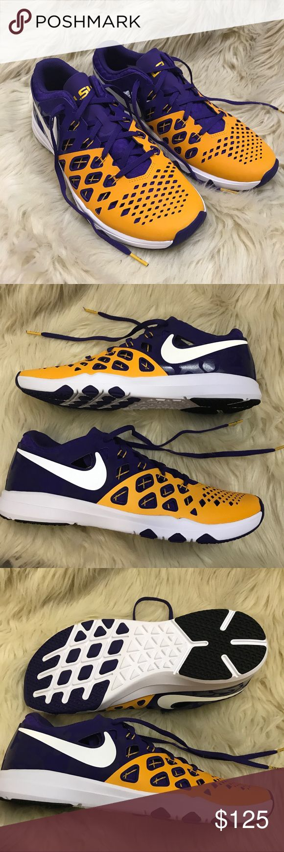NIKE limited edition LSU college sneakers ✨BNWT!✨  ✅Sizing: TRUE TO SIZE  Never worn or used!   2+ BUNDLE = SAVINGS!  ‼️= PRICE FIRM!   AUTHENTIC BRANDS, ALWAYS!  ✈️ SUPER FAST SHIPPING!    USE THE OFFER BUTTON TO NEGOTIATE!  ❓ Questions? Just comment! ❤️  ❤✌HAPPY POSHING!✌❤️ Nike Shoes Athletic Shoes