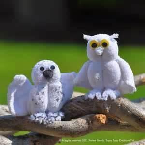 Washcloth Owls