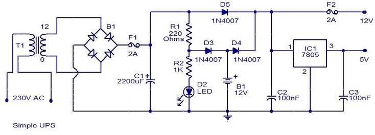 232 best electrical projects images on pinterest electrical uninterruptible power supply ups circuit which shows how the batteries in the ccuart Image collections