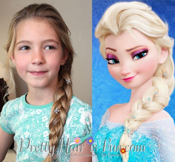 Hubsches Wolle Macht Spass Elsa 39 S Schnitt French Braid Von Disney Frozen Elsa Hair Disney Princess Hairstyles Elsa Braid