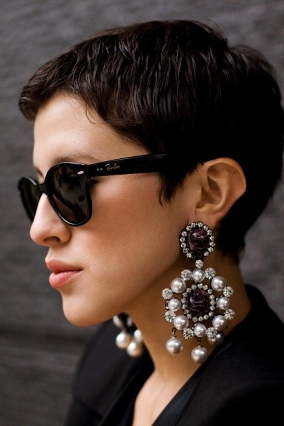 Statement Earrings Are All You Need When It S Clothing Optional Hot