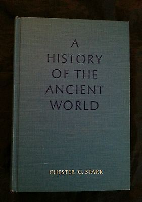 A History of the Ancient World by Chester G Starr Vintage 1974 HC Oxford Press