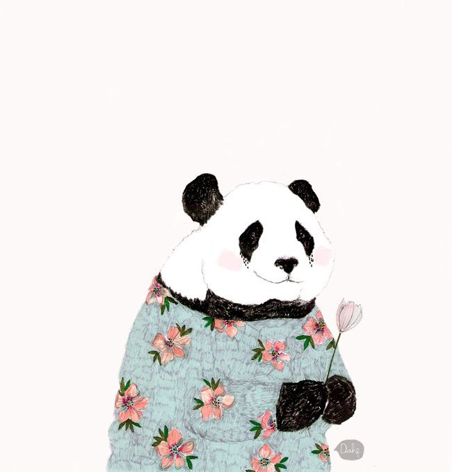 """This is a drawing by Daniela Dahf Henríquez of Mama Panda from the anime """"Shirokuma Café""""!"""