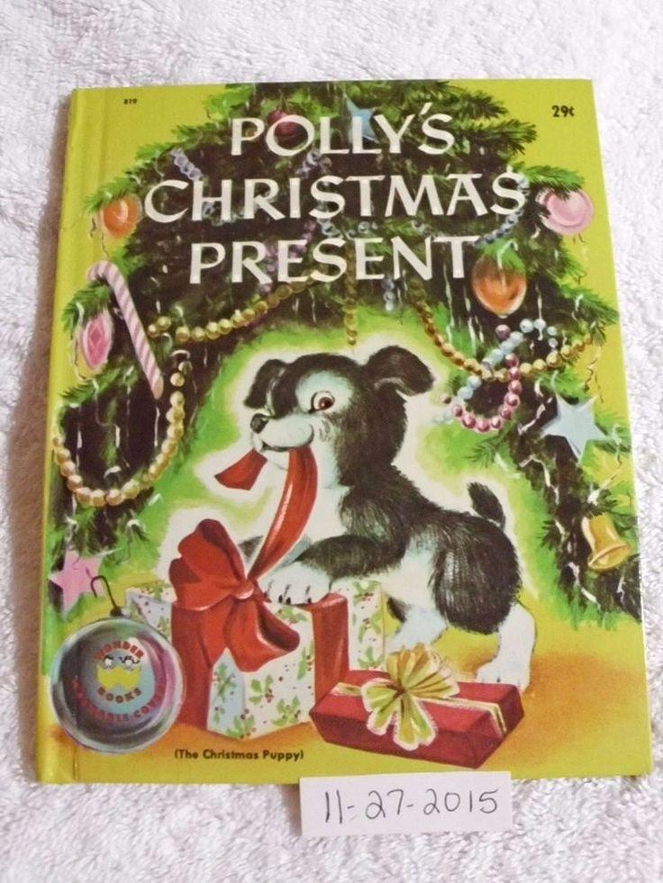 Vintage Children's Wonder Book POLLY'S CHRISTMAS PRESENT