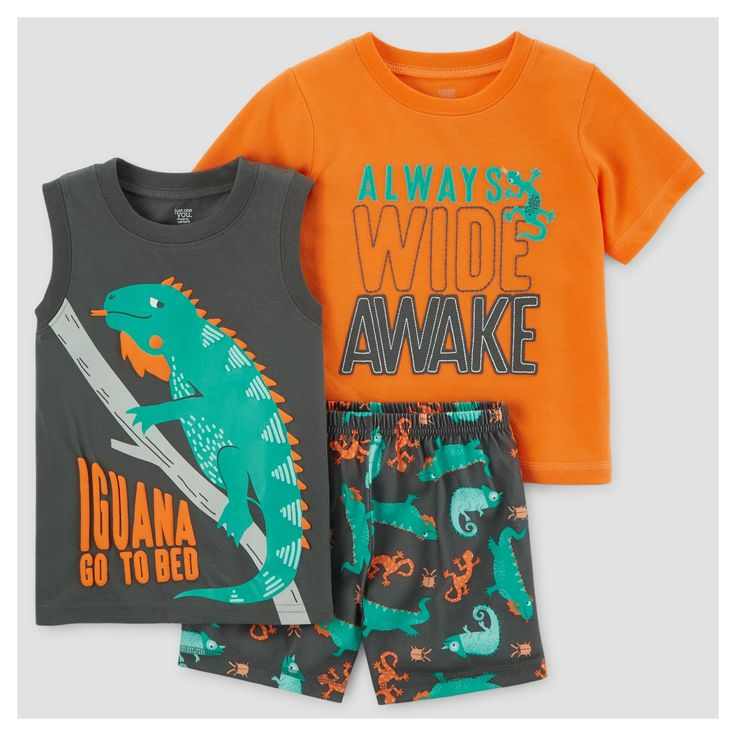 Get your little animal to bed in the Baby Boys' 3pc Pajama Set - Just One You™ Made by Carter's® Orange. These cozy baby boys' pajamas can be mixed and matched for extended wear before laundry day.