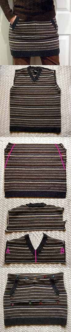 Как сшить юбку из свитера