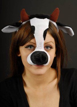 Cow Mask On Headband