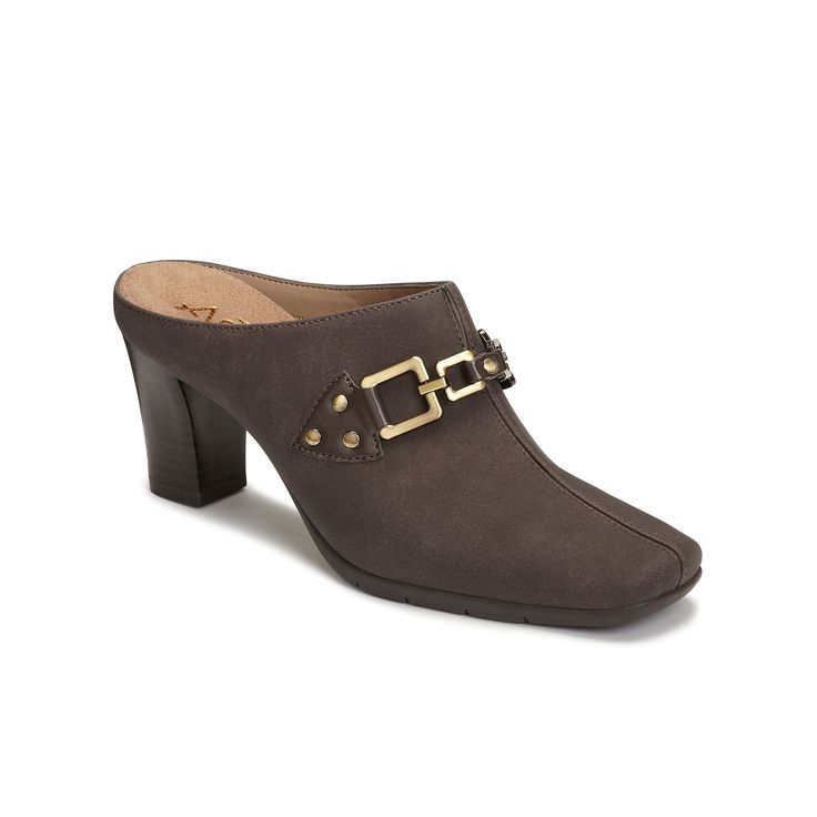 A2 by Aerosoles Matrimony Women's Heeled Clogs, Size: medium (11), Brown