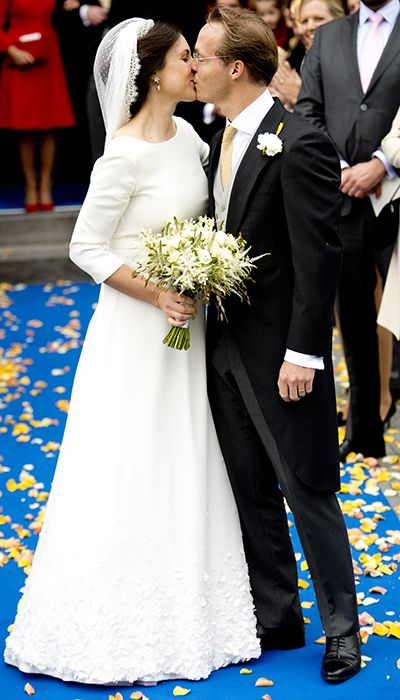 Prince Jaime of Bourbon-Parma, the first cousin of King Willem-Alexander of the Netherlands,  and Viktoria Cservenyak get married in Appeldorm in the Netherlands in October, 2013.