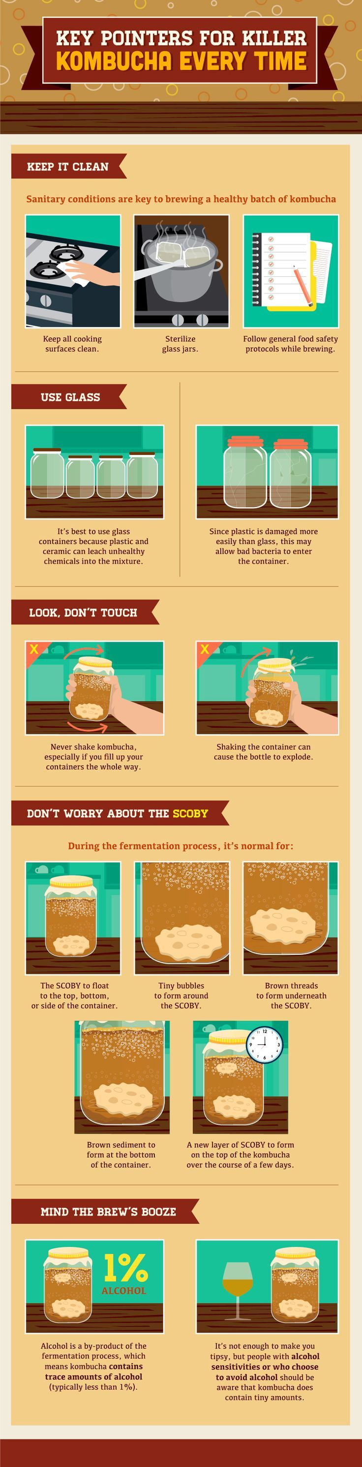 Tips for kombucha