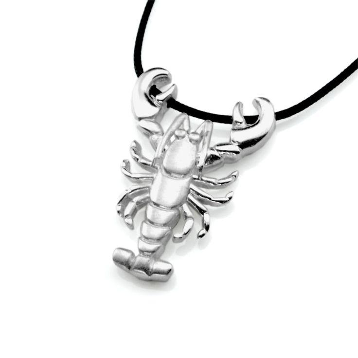Lobster Pendant Silver Pendant  #Summer #Jewelry #Lobster #Pendant #Silver #Ocean #Animal #Sea #Necklace #Beach #Unisex