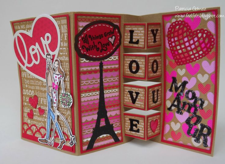 Feel&Felt: San Valentin Building Block Card