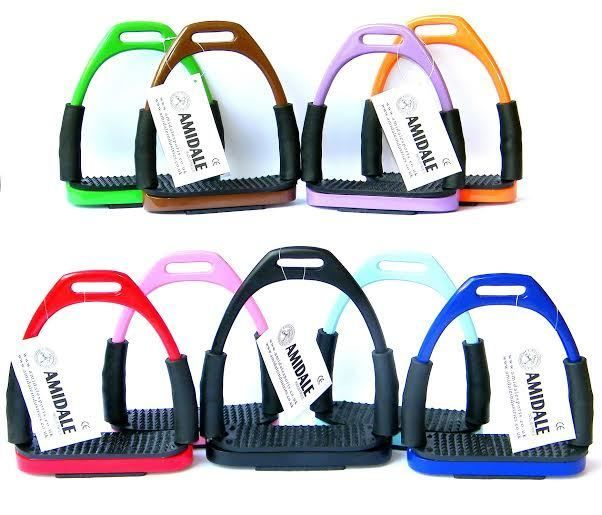 Flexi Safety Stirrups Horse Riding Bendy Irons s Steel 10 Colors Free Gift | eBay