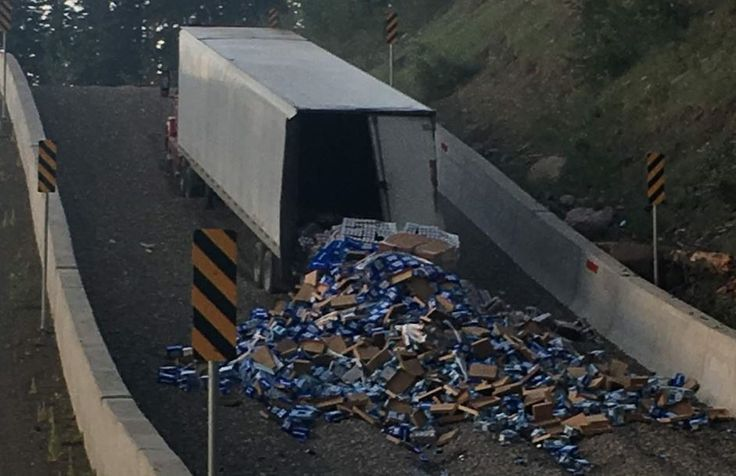 Semi driver dumps 42,100 pounds of beer on Wolf Creek Pass after brakes burn out