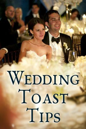 """Lots of """"insider"""" tips from a veteran videographer on how to give a stellar wedding toast."""