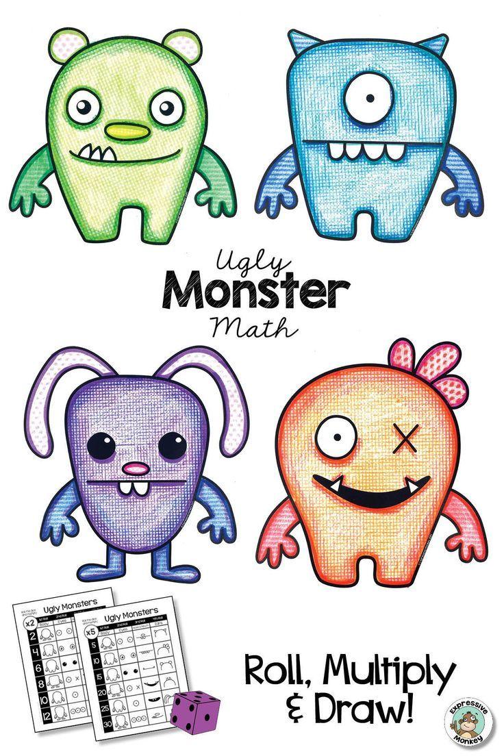 Simple Monster Drawing : simple, monster, drawing, Lesson, Ideas