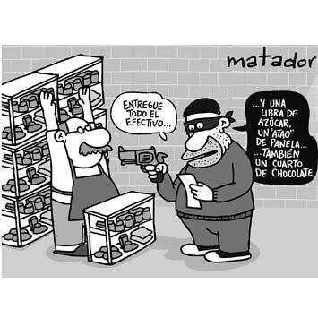 Mercado a mano armada... #caricatura #Matador