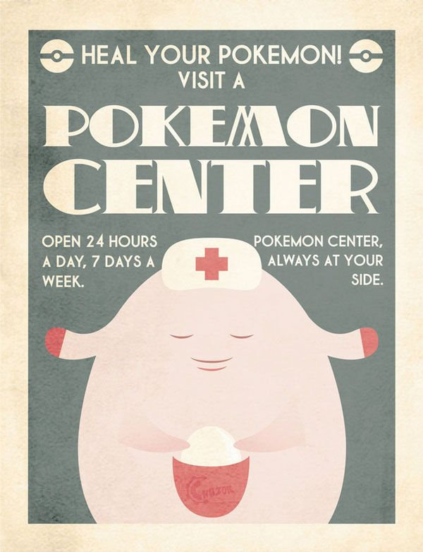 Delightful Vintage-Style Pokémon Ads. This is perfect for my amazing husband and his pokémon obsession.