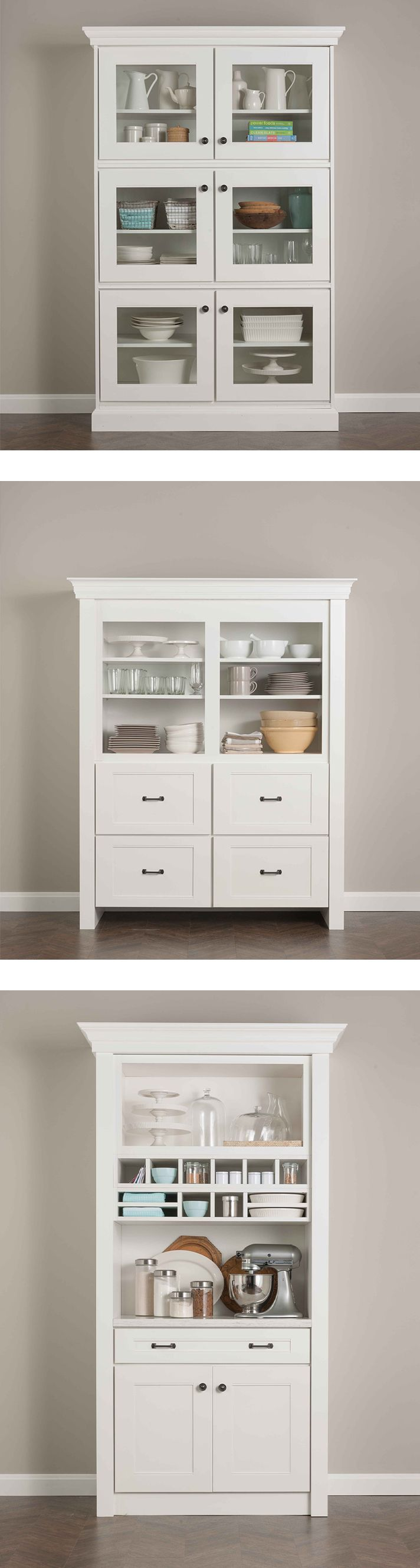 Creative Design Tip: Create standalone pieces, like this hutch, using Martha Stewart Living Kitchen Cabinetry from @homedepot. They have the beauty and detail of finished furniture with plenty of functional storage. Start designing at your nearest store!
