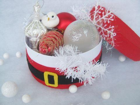 Mikulás doboz 16 cm, Dekoráció, Otthon, lakberendezés, Karácsonyi, adventi apróságok, Ajándékzsák, Meska