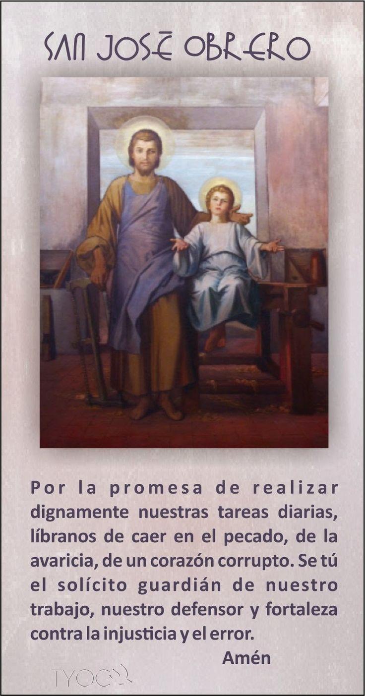 TARJETAS Y ORACIONES CATOLICAS: SAN JOSÉ OBRERO