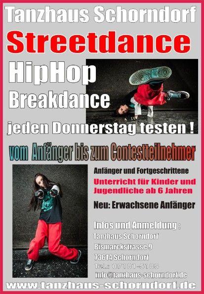 Schorndorf - Streetdance,Hiphop,Breakdance für Kinder, Jugendlcihe, Erwachsene