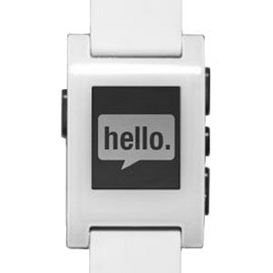 Pebble Smartwatch. Syncs with your phone via Bluetooth to display time, get fitness info, show texts, and more. Want it!