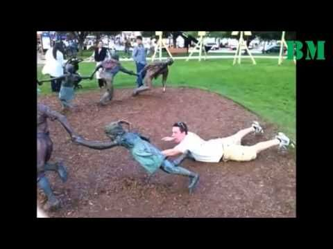 Funny pictures with statues worldwide